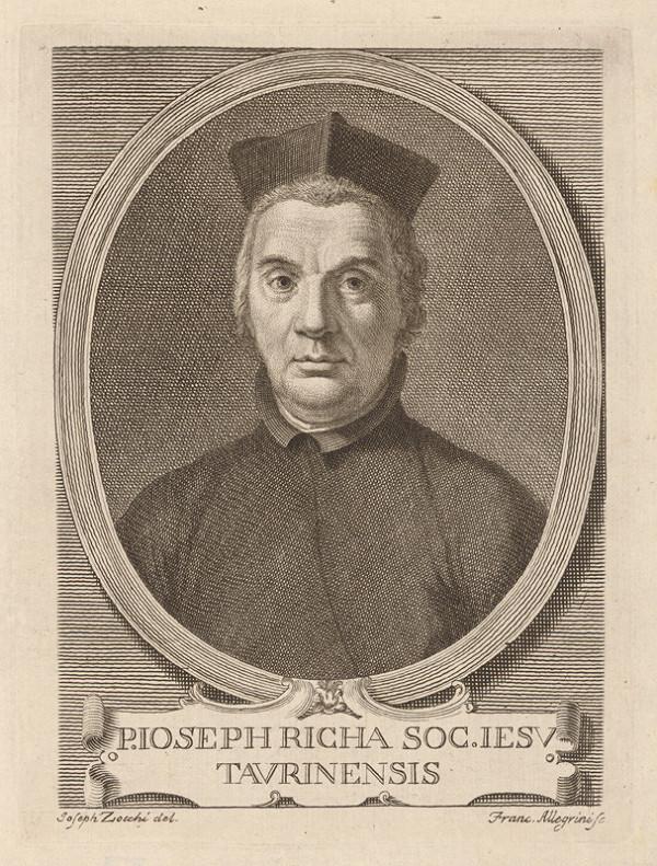 Francesco Allegrini - Portrét P. Joseph Richa Taurinensis S. J.