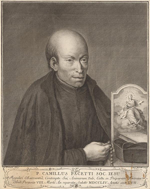 Antonio Baratti, Antonio Maria Garbi – Portrét P. Kamila Pacettiho S. J. /s obrazom Immaculaty a ružencom/