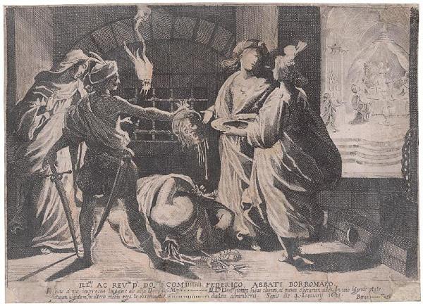 Bernardino Capitelli - Smrť Jána Krstiteľa