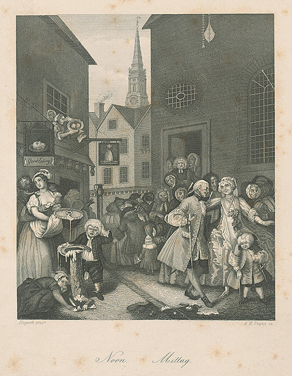 Albert Henry Payne, William Hogarth - Poludnie