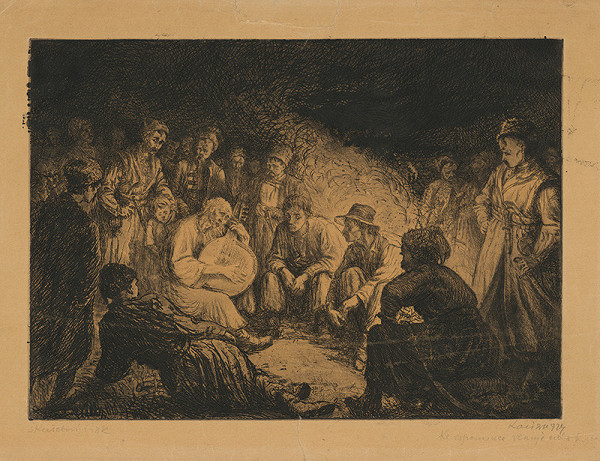 Vasyľ Illič Kasijan – Večer pri ohni