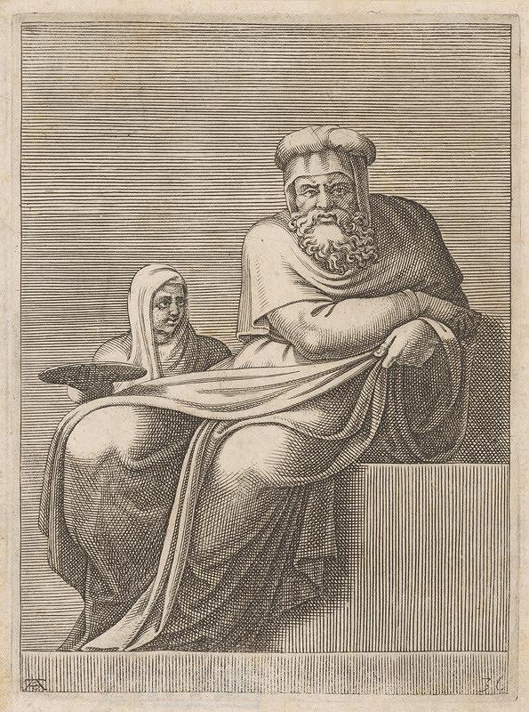 Adamo Scultori – Starec a žena