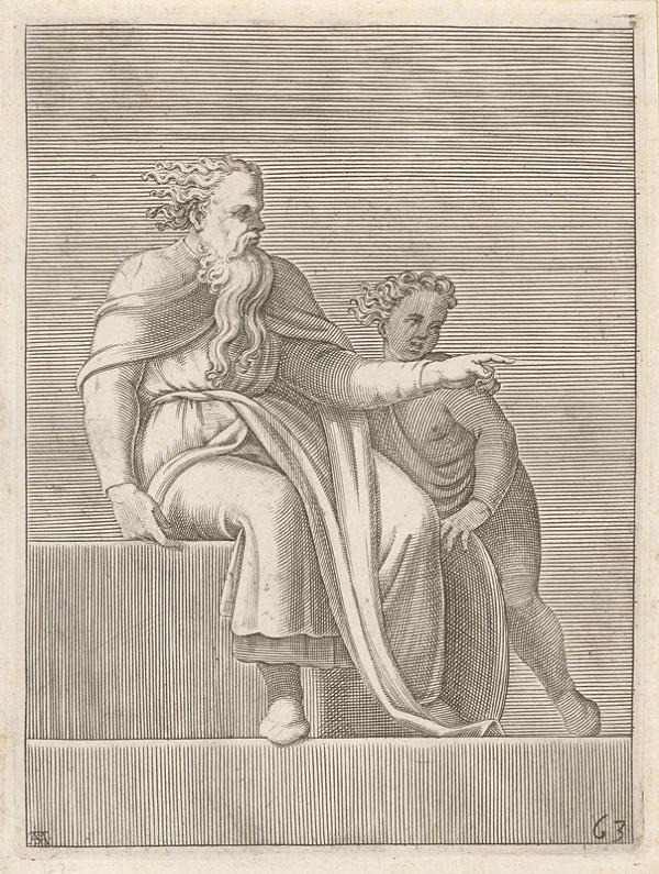 Adamo Scultori – Starec a dieťa