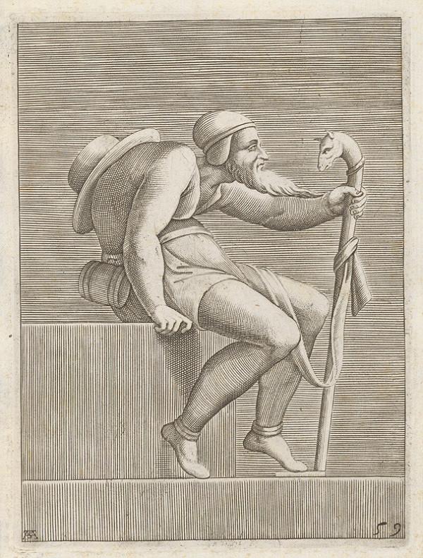 Adamo Scultori - Pútnik