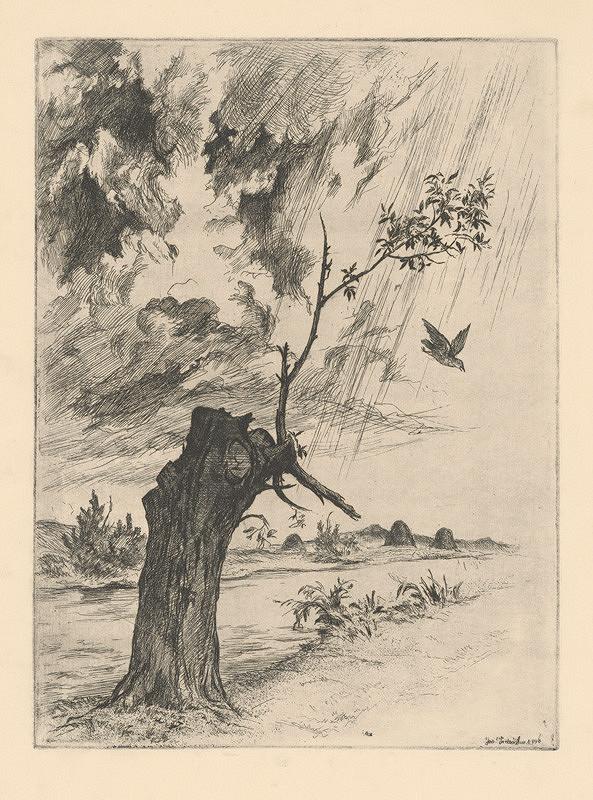 Jaroslav Vodrážka - Starý strom pri potoku