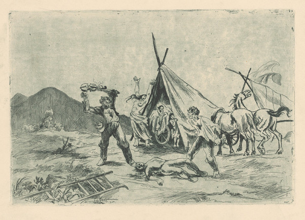 Jaroslav Vodrážka - Bitka v cigánskom tábore