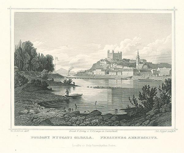 Ludwig Rohbock, Johann Gabriel Friedrich Poppel – Bratislava od západu