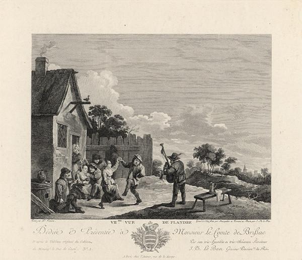 Louis Joseph Masquelier, David Teniers - Pohľad na Flandry: Zabávajúci sa dedinčania