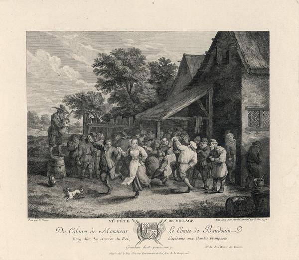 Jacques Philippe le Bas, Pietro Antonio Martini, David Teniers – Pohľad na Flandry: Dedinská slávnosť