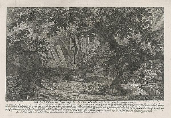 Martin Elias Ridinger, Johann Elias Ridinger - Vlk a kačky