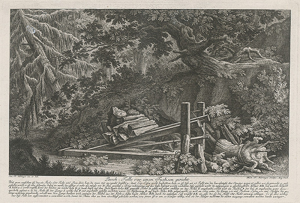Martin Elias Ridinger, Johann Elias Ridinger - Pasca na líšku