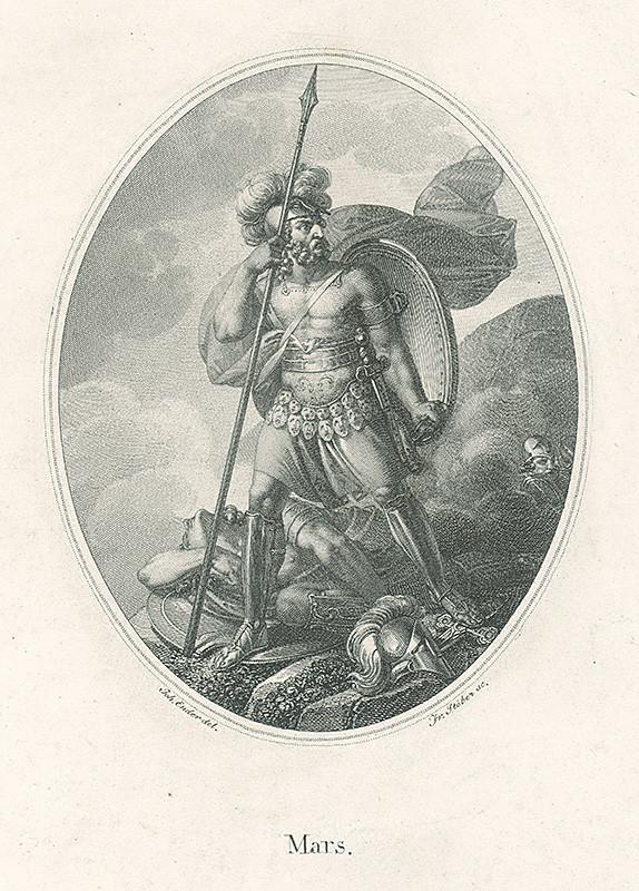 Franz Stöber – Mars, autor predlohy: Johann Nepomuk Ender, 1848 – 1858, Slovenská národná galéria