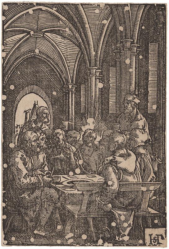 Monogramista H.S., Hans Sebald Beham - Kristus medzi učeníkmi