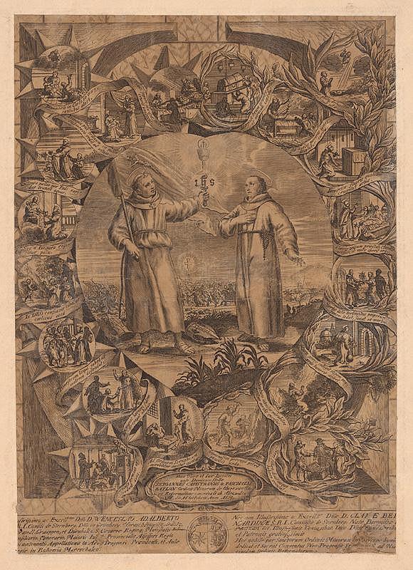 Západoeurópsky autor z konca 17. storočia - Svätý Ján Kapistránsky a sv. Paschal Baylon