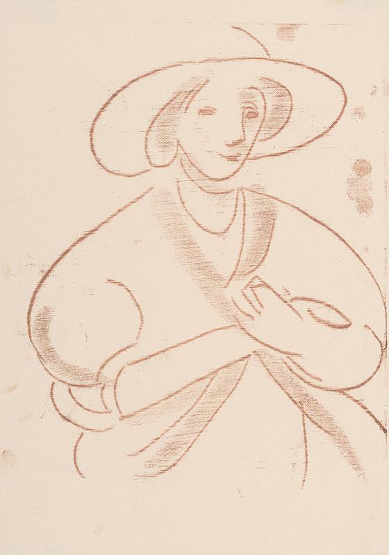 Eugen Nevan - Žena v klobúku