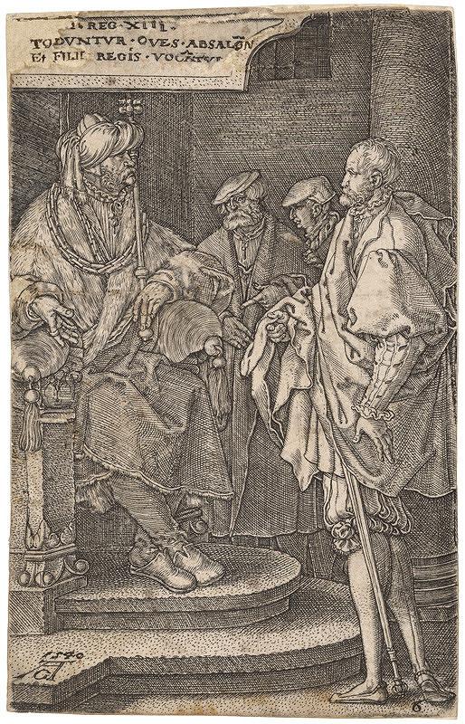 Alaert Claessen, Heinrich Aldegrever – Absolon