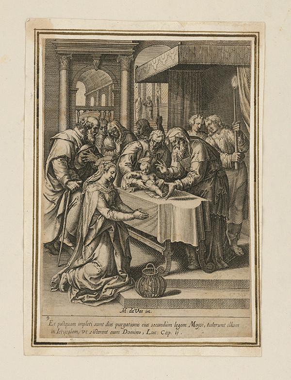 Maarten de Vos st. - Starý Simeon a Ježiško