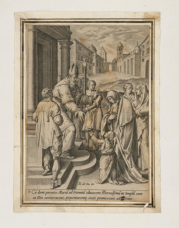 Maarten de Vos st. - Máriin vstup do chrámu