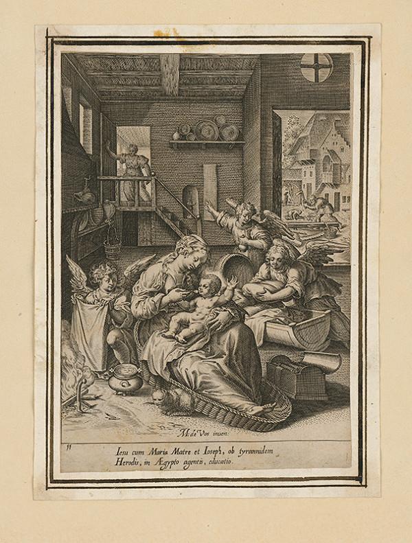 Maarten de Vos st. – Svätá rodina s Ježiškom v Egypte