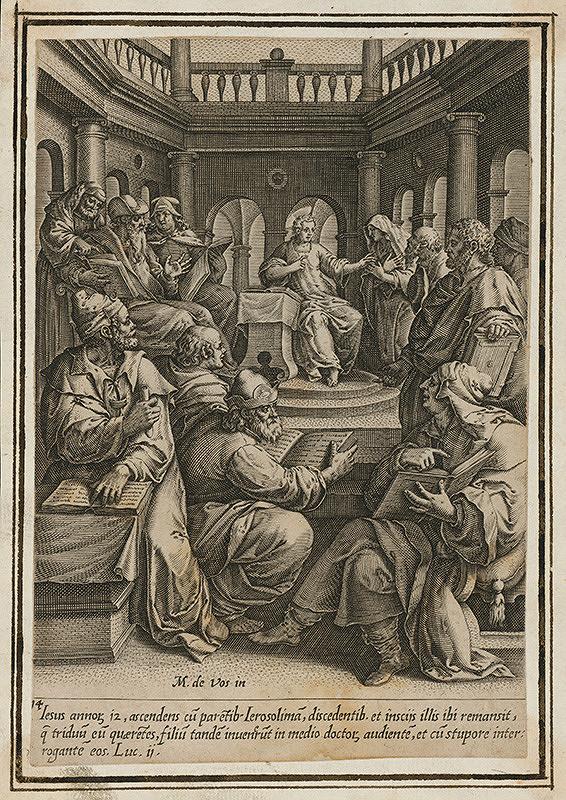 Maarten de Vos st. – Dvanásťročný Ježiš v chráme