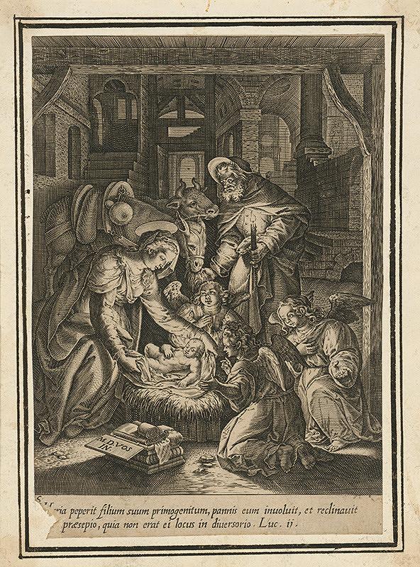 Maarten de Vos st. - Narodenie Ježiška