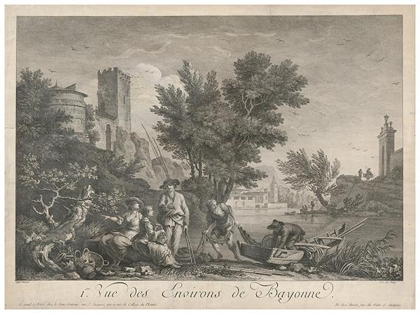 Jean Jacques André Le Veau, Claude-Joseph Vernet – Skupina pozorujúca rybolov