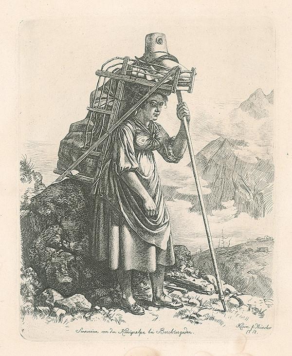 Johann Adam Klein – Dedinčanka z Königsalpe