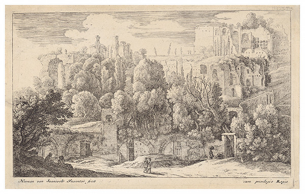 Herman van Swanevelt - Romantická krajina