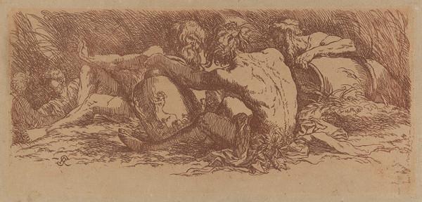 Salvator Rosa – Traja muži s amforami