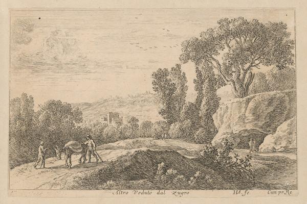 Herman van Swanevelt – Krajina s cestou a chodcami