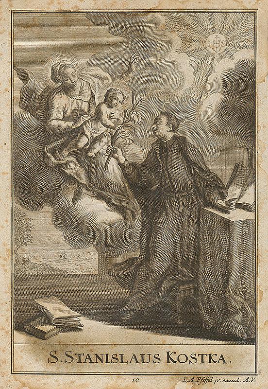 Johann Andreas Pfeffel – Svätý Stanislav Kostka
