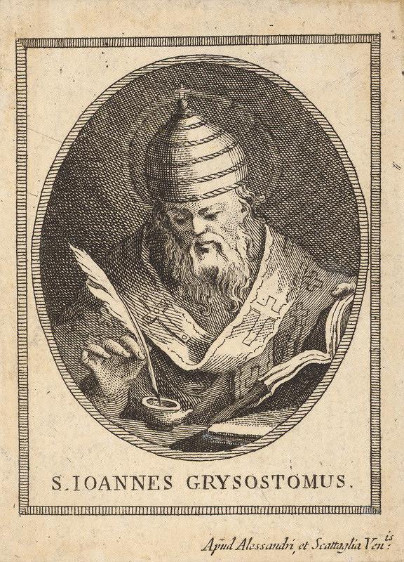 Innocente Alessandri, Pietro Scattaglia – Sv. Ján Chryzostom (portrét v ovále)