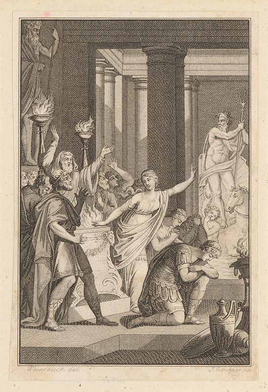 Joseph Gerstner, Johann Caspar Weinrauch – Antická scéna