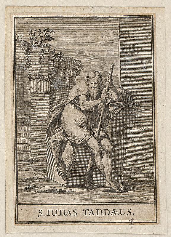 Christoph Weigel st., Jacob von Sandrart – Svätý Juda Tadeáš