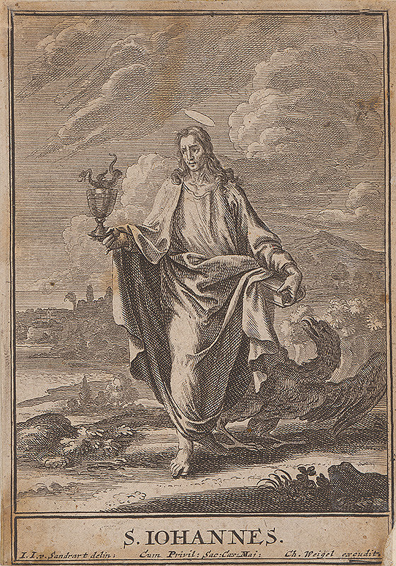 Christoph Weigel st., Jacob von Sandrart - Sv.Ján Evanjelista