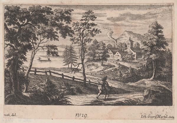 Johann Georg Hertel, Johann Adam Stockmann – Lesná krajina s pútnikom