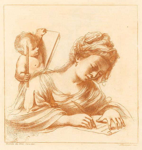 Stefano Mulinari, Guercino - Žena píšuca list a puto držiaci sviečku