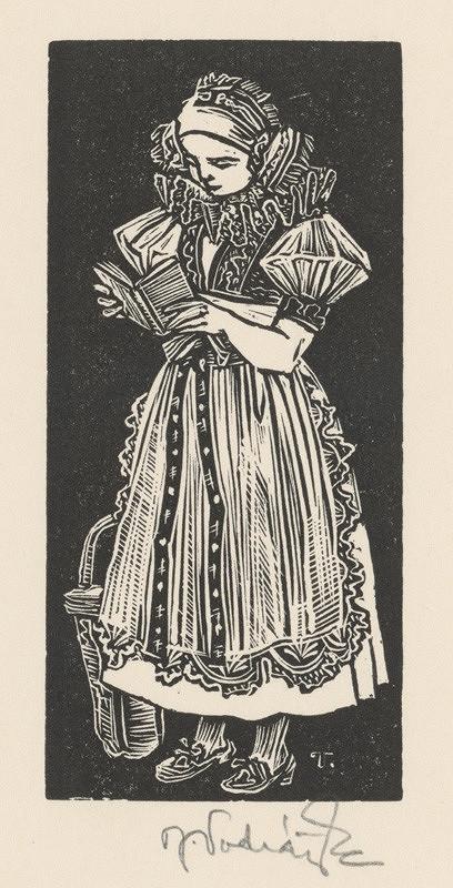 Jaroslav Vodrážka – Dievča v kroji