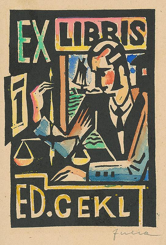 Ľudovít Fulla - Ex libris Ed.Cekl.