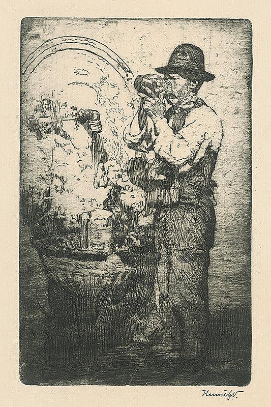 Viktor Hermély – Štúdia pijúceho sedliaka