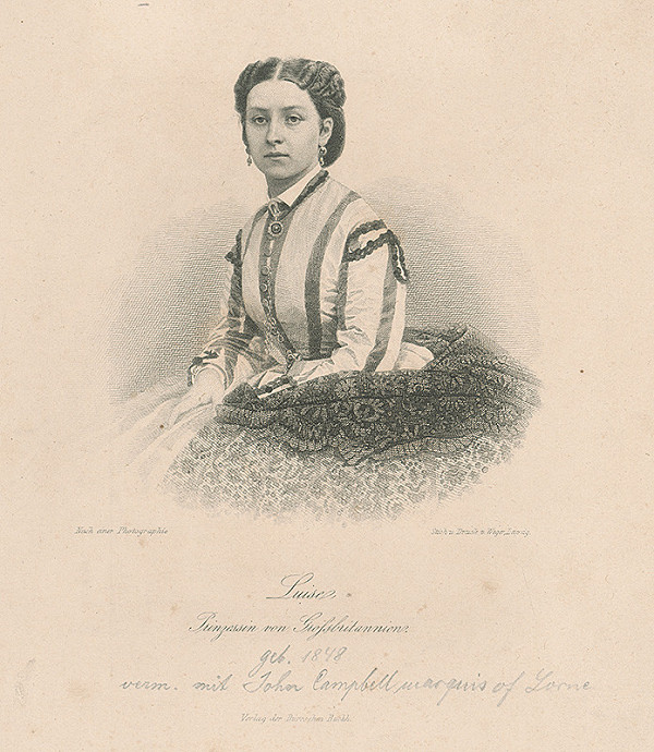 August Weger – Luise Prinzessin von Grossbritannien
