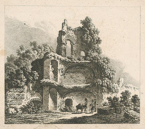 Johann Josef Schindler - Rímska zrúcanina so štafážou