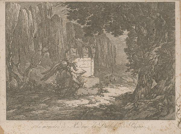Západoeurópsky autor z 18. storočia – A la memoire de Madame la Duchesse de Polignac