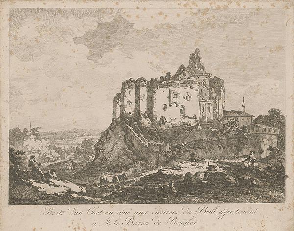 Francúzsky autor z 18. storočia – Zbytky kaštieľa v okolí de Brill