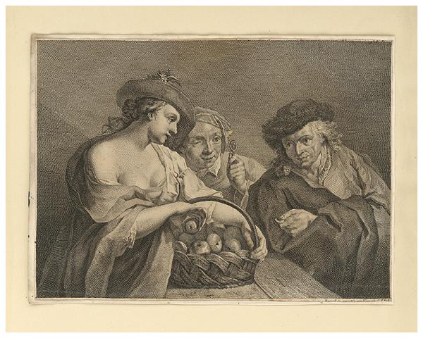Benátsky autor z 18. storočia – Predavačka jabĺk