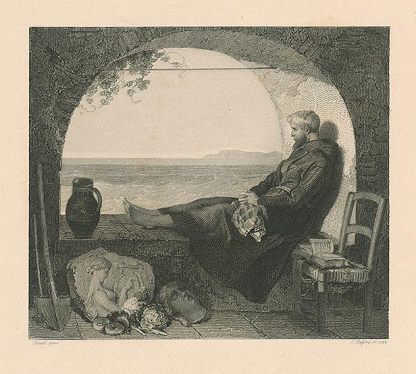 Peter Fendi, J. Palsini, Johann Nepomuk Passini - Mních hľadiaci na more
