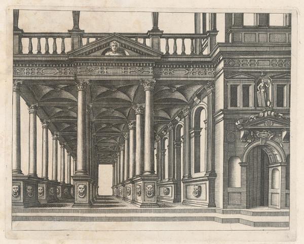Taliansky autor z 1. polovice 20. storočia – Stĺpový portikus