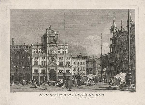 Antonio Sandi, Francesco Guardi – Orloj a Chrám sv. Marka v Benátkach