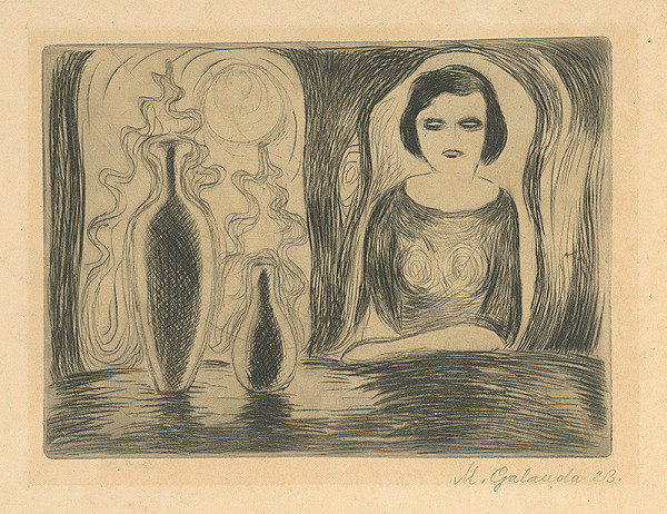 Mikuláš Galanda – Žena pri stole