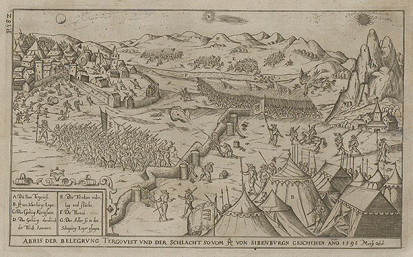 Paul Fürst, Lucas Schnitzer - Obliehanie a dobýjanie mesta Tergovist roku 1595